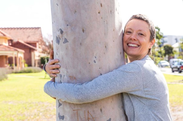 Jane hugging tree (smaller)